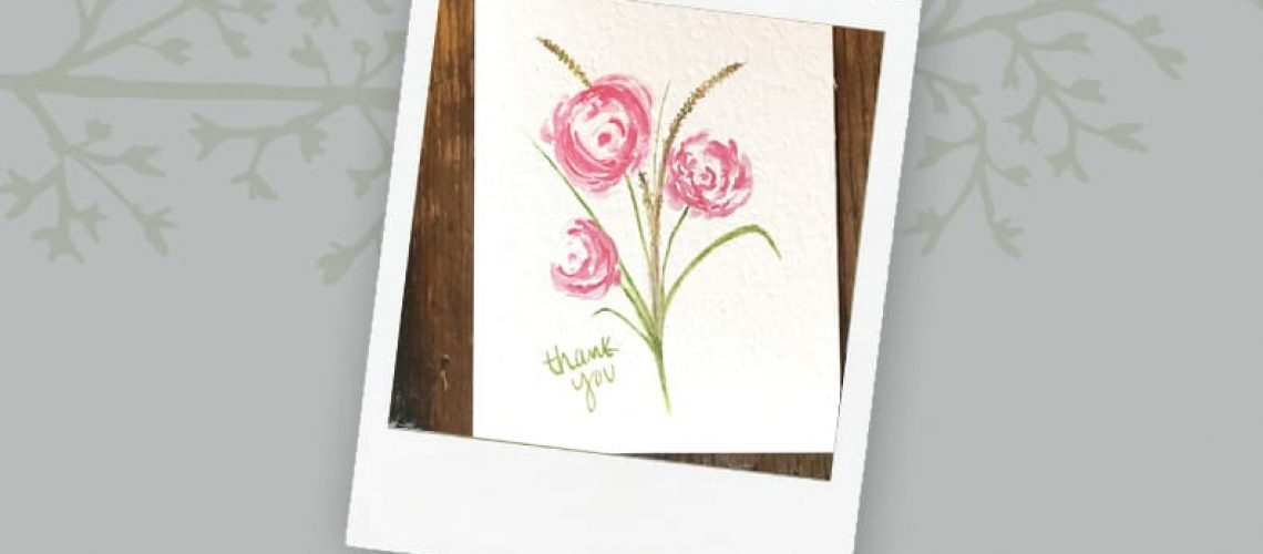 United For Her Thank You Card